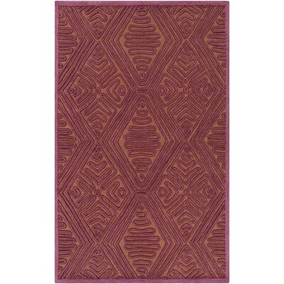 Enkhuizen Hand-Woven Purple/Beige Area Rug Rug Size: 5 x 76