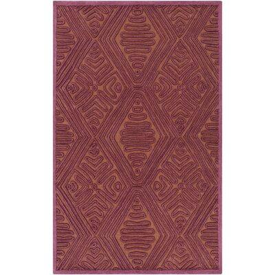 Enkhuizen Hand-Woven Purple/Beige Area Rug Rug Size: 8 x 10
