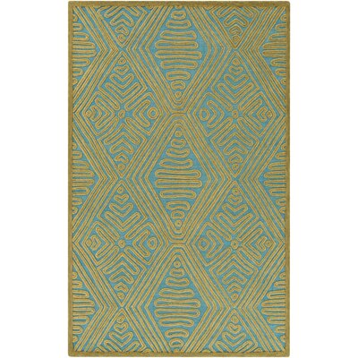 Enkhuizen Hand Woven Green/Blue Area Rug Rug Size: 2 x 3