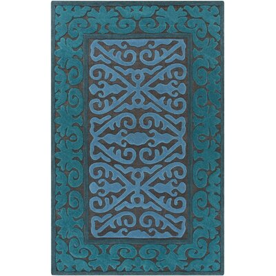 Enkhuizen Hand Woven Blue Area Rug Rug Size: Rectangle 4 x 6