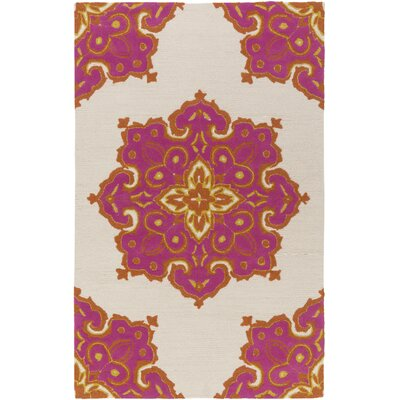 Iona Hand-Hooked Pink Indoor/Outdoor Area Rug Rug Size: Rectangle 5 x 76