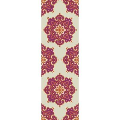 Iona Hand-Hooked Pink Indoor/Outdoor Area Rug Rug Size: Runner 26 x 8