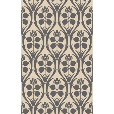 Georgina Hand-Hooked Beige/Gray Area Rug Rug Size: Rectangle 4 x 6