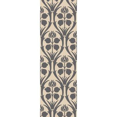 Georgina Hand-Hooked Beige/Gray Area Rug Rug Size: Runner 26 x 8
