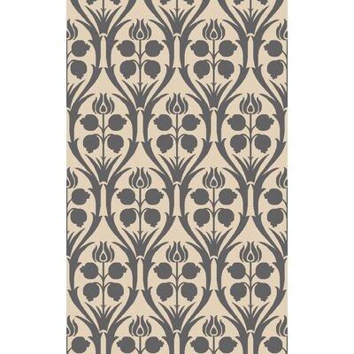 Georgina Hand-Hooked Beige/Gray Area Rug Rug Size: 9 x 13