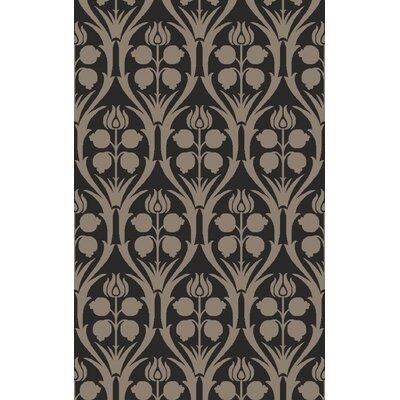 Georgina Hand-Hooked Black/Gray Area Rug Rug Size: 9 x 13