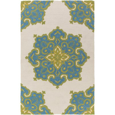 Iona Blue/Beige Indoor/Outdoor Area Rug Rug Size: Rectangle 5 x 76