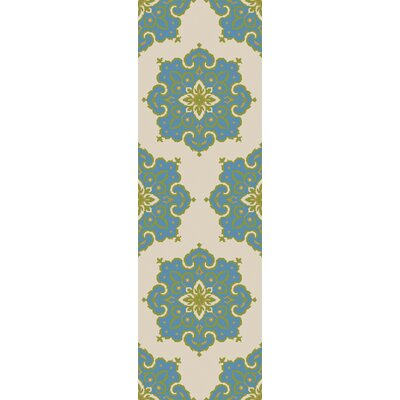Iona Blue/Beige Indoor/Outdoor Area Rug Rug Size: Runner 26 x 8