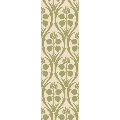 Georgina Green/Beige Area Rug Rug Size: Rectangle 9 x 13