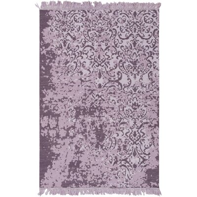 Irene Hand-Woven Purple Area Rug Rug Size: Rectangle 5 x 76