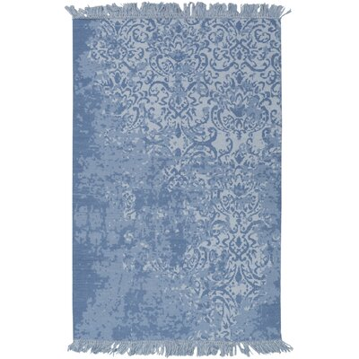 Irene Hand-Woven Blue Area Rug Rug Size: 4 x 6