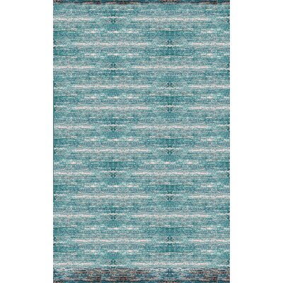 Cadwell Teal/Chocolate Area Rug Rug Size: 2 x 3