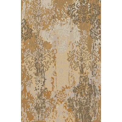 Urrutia Beige/Gold Damask Rug Rug Size: Rectangle 2 x 3