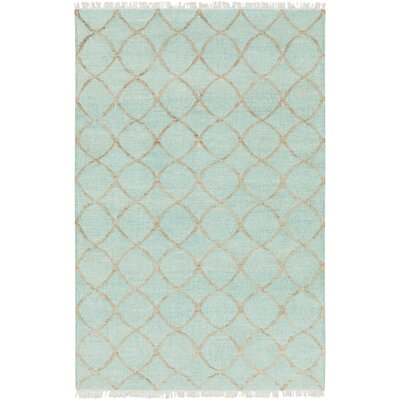 Ravenstein Hand-Woven Blue Area Rug Rug Size: Rectangle 6 x 9