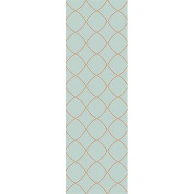 Ravenstein Hand-Woven Blue Area Rug Rug Size: Runner 2'6