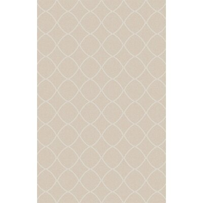 Ravenstein Hand-Woven Beige Area Rug Rug Size: Rectangle 5 x 76