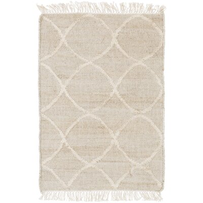 Ravenstein Hand-Woven Beige Area Rug Rug Size: Rectangle 2 x 3