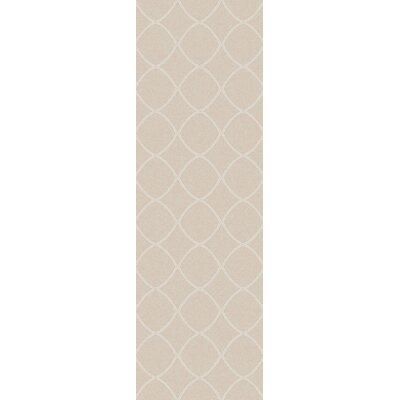 Ravenstein Hand-Woven Beige Area Rug Rug Size: Runner 26 x 8