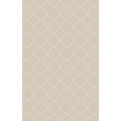 Ravenstein Hand-Woven Beige Area Rug Rug Size: 6 x 9