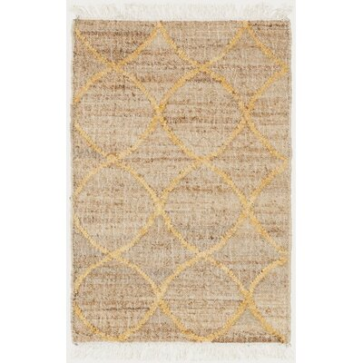 Ravenstein Hand-Woven Brown Area Rug Rug Size: 2 x 3