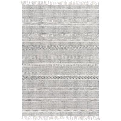 Hale Hand-Woven Gray Area Rug Rug Size: 8 x 10