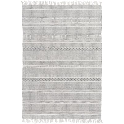 Hale Hand-Woven Gray Area Rug Rug Size: 2 x 3