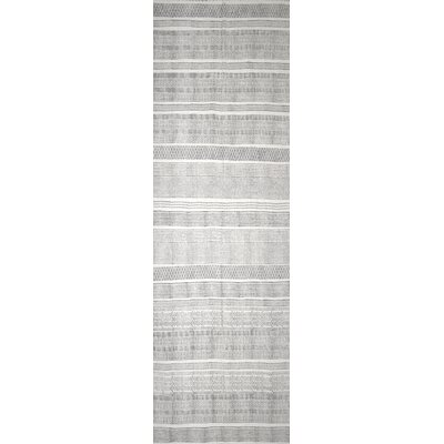 Hale Hand-Woven Gray Area Rug Rug Size: Runner 26 x 8