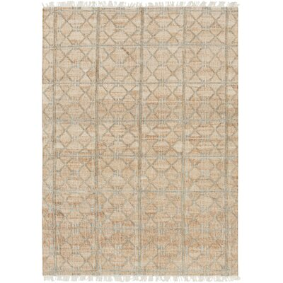 Garvin Geometric Hand-Woven Beige Area Rug Rug Size: 9 x 13