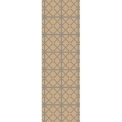Garvin Geometric Hand-Woven Beige Area Rug Rug Size: Runner 26 x 8