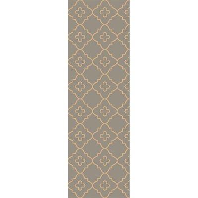 Garvin Hand-Woven Gray Area Rug Rug Size: Runner 26 x 8