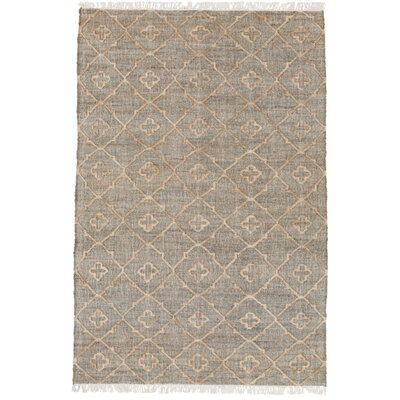 Garvin Hand-Woven Gray Area Rug Rug Size: 4 x 6