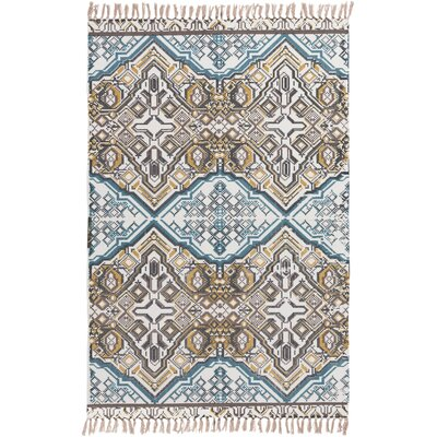 Heusden Hand-Woven Blue/Brown Area Rug Rug Size: 2 x 3
