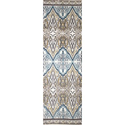 Hale Hand-Woven Blue/Brown Area Rug Rug Size: Runner 26 x 8