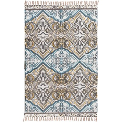 Hale Hand-Woven Blue/Brown Area Rug Rug Size: 4 x 6