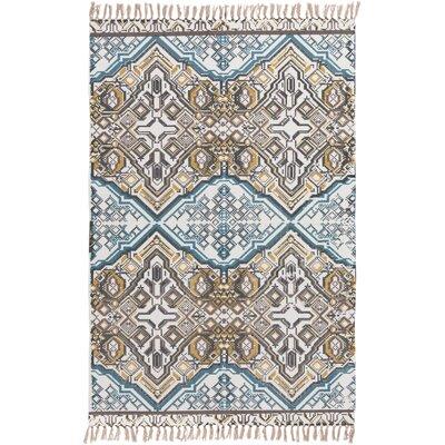 Heusden Hand-Woven Blue/Brown Area Rug Rug Size: 5 x 76