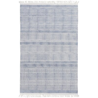 Hale Hand-Woven Blue Area Rug Rug Size: 2' x 3'