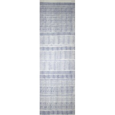 Hale Hand-Woven Blue Area Rug Rug Size: Runner 26 x 8