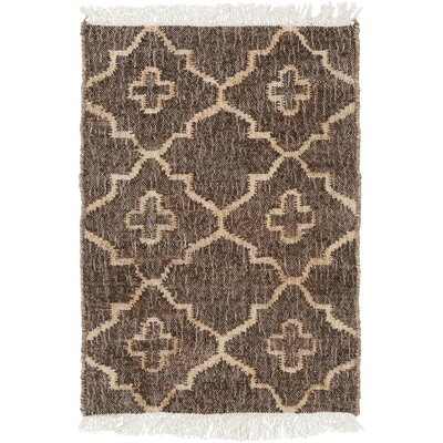 Garvin Hand-Woven Brown Area Rug Rug Size: Rectangle 2 x 3