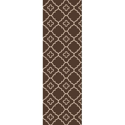 Garvin Hand-Woven Brown Area Rug Rug Size: Runner 26 x 8