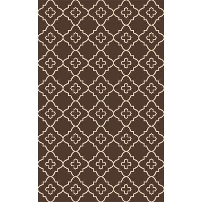 Garvin Hand-Woven Brown Area Rug Rug Size: Rectangle 6 x 9
