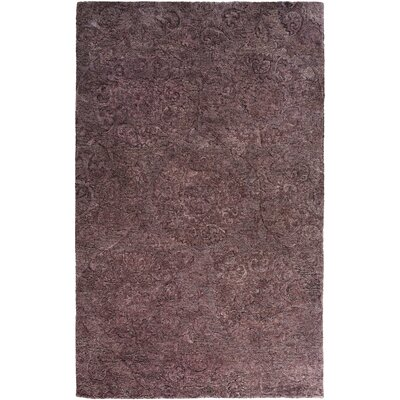 Oss Hand Tufted Synthetic/Wool Purple Area Rug Rug Size: Rectangle 5 x 76