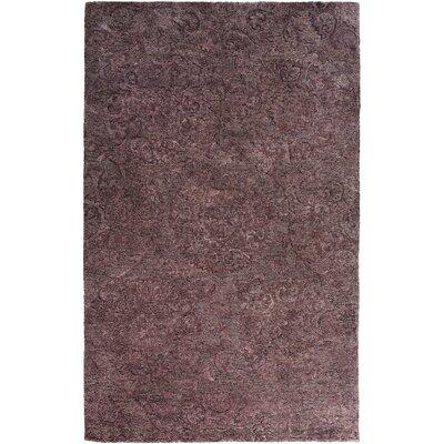 Oss Hand-Tufted Purple Area Rug Rug Size: 3 x 5