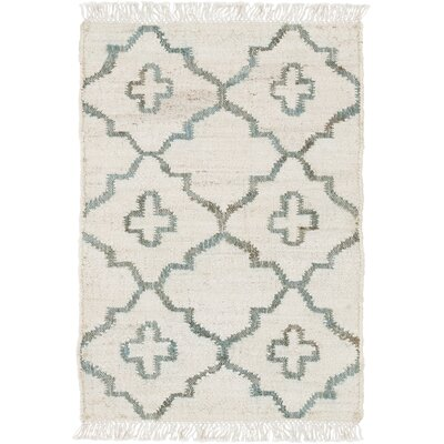 Garvin Hand-Woven Beige Area Rug Rug Size: Rectangle 4 x 6