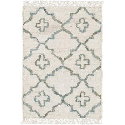 Garvin Hand-Woven Beige Area Rug Rug Size: 6 x 9
