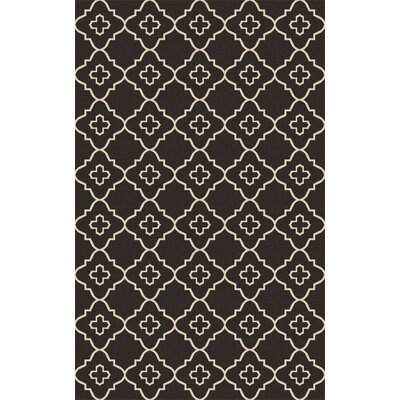 Garvin Hand-Woven Black/Beige Area Rug Rug Size: Rectangle 8 x 10