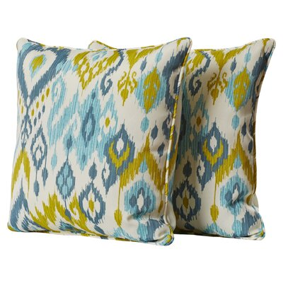 Wijchen Corded Indoor Outdoor Throw Pillow Color: Bluestone