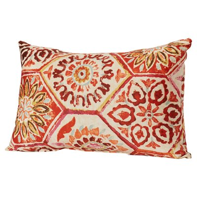 Dyanna Cotton Lumbar Pillow Color: Crimson