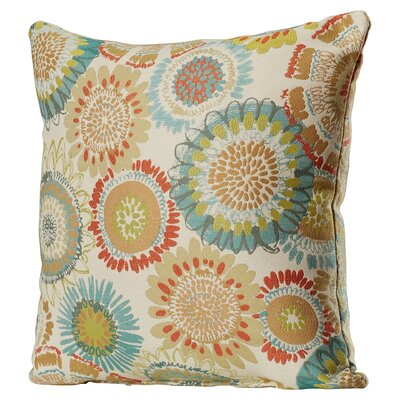 Delancy Aqua Throw Pillow Size: 16.5 H x 16.5 W