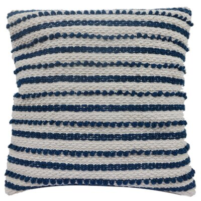 Luxembourg Wool Throw Pillow Color: Navy Blue / White