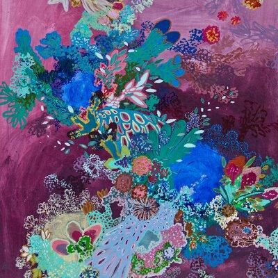 Todo Eso Venía Con Las Olas Painting Print on Canvas